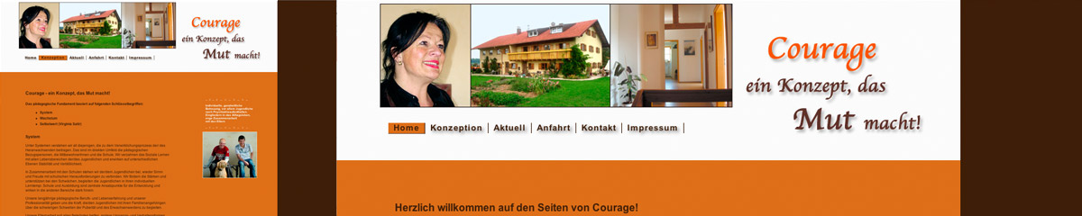 Webdesign Jugendwohnheim Courage